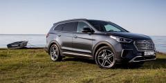 Hyundai Frand Santa Fe  Соплатформенный с Kia Sorento Prime кроссовер от Hyundai может прибавить столькоже — от 95 тыс. до 120 тыс. рублей в зависимости от мотора.