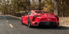 Toyota Supra Новая Supra будет построена на совместной с BMW платформе и получит немецкие турбомоторы: двухлитровую «четверку» и трехлитровый шестицилиндровый агрегат. Кроме того, запланирован и гибридный вариант, который, возможно, получит полный привод с электромотором на передней оси. Официальных изображений машины пока нет, но прототипы в камуфляже напоминают концепт FT-1 2014 года с характерным носом и волнистой крышей.