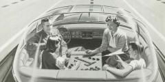 «Однажды ваш автомобиль сможет ехать по электрическому шоссе сам, его ускорения и траектория будут контролироваться электронными девайсам, встроенными в дорогу. Поездки станут более приятными, а шоссе – безопасными. Никаких пробок, аварий, уставших водителей», - обещает рекламныйпостер1950года. Как мы знаем, вопрос автономного вождения был решен иначе.