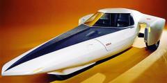 Chevrolet Astro III  В 1967-1968 гг. Chevolet показала два концептуальных спорткара Astro c низкими, обтекаемыми кузовами. Это были вполне традиционные автомобили, чего нельзя сказать о третьем прототипе, представленном в 1969 году. Спорткар со сдвоенным передним колесом оснащался газотурбинной силовой установкой мощностью 317 лошадиных сил. Для посадки верхняя часть стеклопластикового кузова сдвигалась вперед, а для замедления машины использовались аэродинамические тормоза, как у самолета.