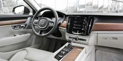 Кремовые сиденья Volvo S90 можно совместить не только с черным интерьером, но и с кремовым