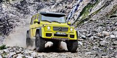 Mercedes-Benz G500 4x42  Mercedes-Benz G500 4x42 – абсолютный рекордсмен нашего обзора. При этом не стоит думать, что модификация G500 4x42 – это какая-то особая версия, выпускаемая ограниченным тиражом. Такой внедорожник может купить любой желающий. Правда, выложить за него придется 19 240 000 рублей.