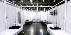 Прием пациентов планируется начать 12 мая. Во временном госпитале более тысячи мест, 120 из них — реанимационные