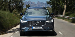 Фирменные диодные фары - отличительная черта всех новых автомобилей Volvo.