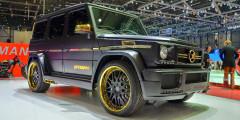 Spyridon – так ателье Hamann-Motorsport назвало свой боди-кит для G65 AMG. Не только в имени внедорожника, но и в облике чувствовалось родное: матовый окрас, углепластиковые капот и спойлер на крыше, а также множество золоченых деталей. Причем, золотом у выставленной в Женеве машины сияли даже выхлопные патрубки, вентиляционные решетки и корпус запаски.