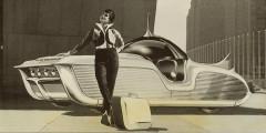 Astra-Gnome  Еще одно творение Арбиба – концепт Astra-Gnome 1956 г. – был заявлен, как «Космическая машина времени» – Time and Space car. Дизайнер считал, что так должны выглядеть автомобили в 2000 году. Кузов, скрывавший шасси микролитражки Nash Metropolitan, как будто парил над дорогой. Прозрачный сферический колпак не только обеспечивал круговой обзор, но еще и был частью аудиосистемы.