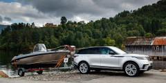 Новый Velar способен буксировать прицеп без тормозов весом 750 килограммов. Максимальная тяговая масса мощных версий равна 2,5 тоннам.