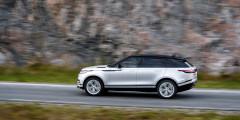 Velar – самая аэродинамичная модель Range Rover. На скорости свыше 100 км/ч кроссовер с пневмоподвеской немного уменьшает дорожный просвет.