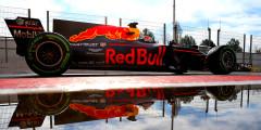 Red Bull Racing RB13 Пилоты: Дэниел Риккардо, Макс Ферстаппен  Автомобиль Red Bull с несчастливым индексом 13 удивил уже на презентации: по центру носового обтекателя RB13 зияла дыра. Технологические отверстия в носу были у болидов Формулы-1 и раньше, но они никогда не были настолько большими. Зарубежные журналисты обратили внимание, что решение Red Bull Racing может нарушать регламент. Впрочем, лучше всех высказались болельщики: фанаты предположили, что болиду просто нужна «форточка» для проветривания ботинок Риккардо. Все равно он будет из них пить.