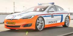 Tesla Model S  Люксембургская полиция в данный момент использует несколько автомобилей Tesla Model S. Это часть программы, с помощью которой в будущем правительство страны планирует заменить все автомобили с ДВС электрокарами.