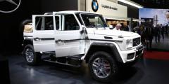 Внедорожник Maybach G 650 Landaulet сделан на базе Mercedes-Benz G-Class c удлиненной базой и открытым сзади кузовом. Задние сиденья с массажем и множеством регулировок взяты у S-Class Pullman. Благодаря турбомотору V12 с отдачей 630 л.с. и 1000 Нм разгон супервнедорожника до 100 км/ч занимает всего пять секунд.