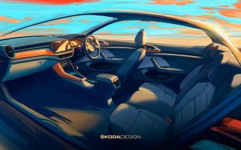 Skoda показала салон нового компактного кроссовера