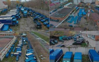 «Почта России» объяснила появление кладбища фургонов в Москве