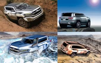 Toyota показала невоплощенные эскизы Land Cruiser 300