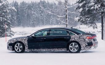 Audi вывела на тесты сверхроскошную версию A8. Фото