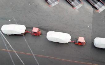 Дрон заснял секретные модели на заводе Tesla. Видео