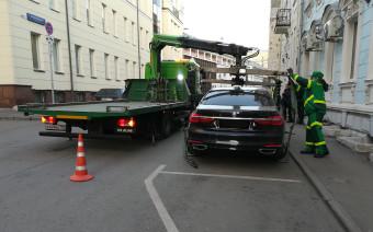 В Москве за стоянку без номеров чаще всего эвакуировали машины BMW