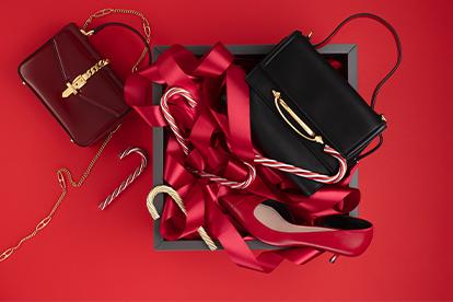 Слева направо: Сумка Gucci (бутик Gucci), украшения в виде тростей Michael Aram («Дом фарфора»), сумка Alexander McQueen (бутик Alexander McQueen), Туфли Marella (ГУМ)