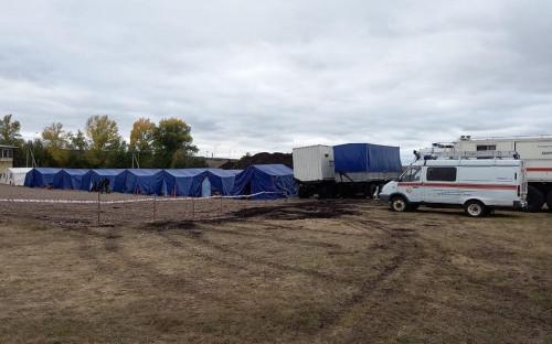 Палаточный лагерь для граждан Киргизии.