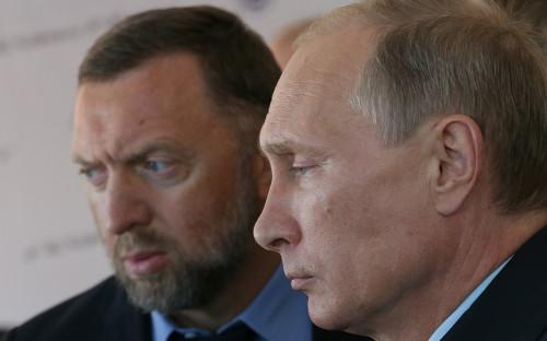 Олег Дерипаскаи Владимир Путин (слева направо)