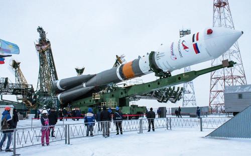 Ракета &laquo;Союз-2.1б&raquo; с египетским спутником Egyptsat-A на стартовой площадке космодрома Байконур<br /> &nbsp;