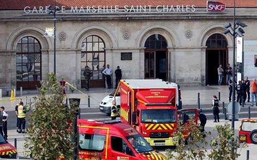 <p>Вокзал в Марселе после нападения</p>