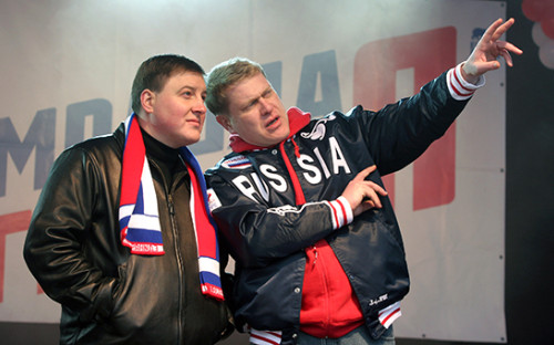 В середине 2000-х Андрей Турчак (на фото слева) иИван Демидов (справа) стали лицом «Молодой гвардии «Единой России». А Александр Горбунов (за кадром) — ее главным орговиком: «Все знали, чтопочасти организации иденег главный—Саша Горбунов»,— вспоминает их коллега