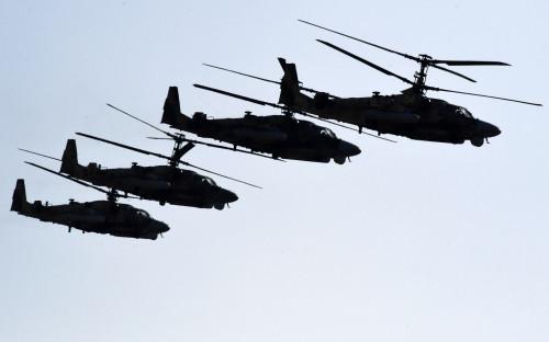 Российские вертолеты перебросили на новую базу на севере Сирии