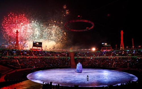 "<p>Церемония открытия проходила на стадионе Pyeongchang Olympic Stadium в городе Пхёнчхан. Об официальном открытии Олимпиады <a href=""https://www.rbc.ru/society/09/02/2018/5a7d79279a79474fe17a2305"">объявил</a> президент Южной Кореи Мун Чжэ Ин.</p>"