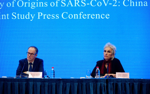 Питер Бен Эмбарек и Марион Купманс, члены группы Всемирной организации здравоохранения