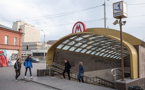 Станция Омского метрополитена «Библиотека имени Пушкина»