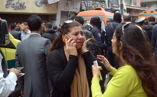<p>На месте теракта в&nbsp;Александрии</p>