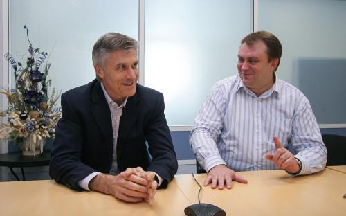 Майк Калви и Алексей Калинин (слева направо)