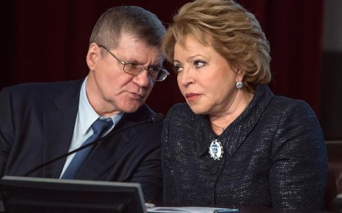 Валентина Матвиенко и Юрий Чайка