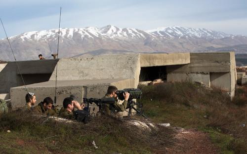 Боевые укрепления армии Израиля на границе с Сирией