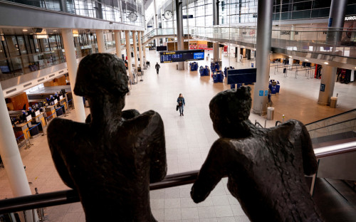 Вид на аэропорт Копенгагена