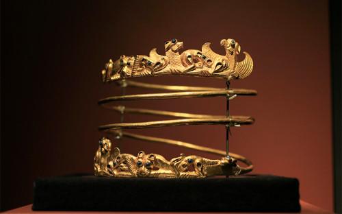 <p>Металлическое ожерелье, II в.&nbsp;н.э.</p>