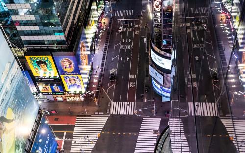 Улица Таймс-сквер в Нью-Йорке, США<br /> &nbsp;