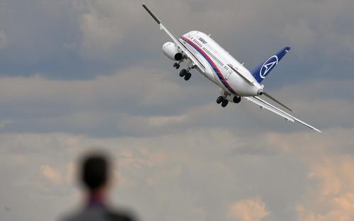 <p>Самолет Sukhoi Superjet 100</p>