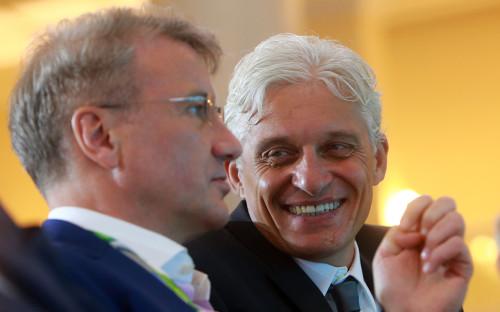 Герман Греф и Олег Тиньков
