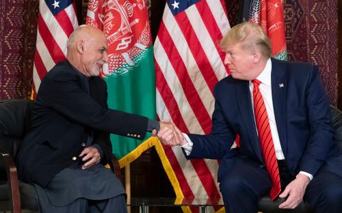 Президент Афганистана Ашраф Гани и президент США Дональд Трамп