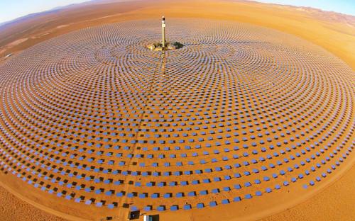 <p>Солнечная электростанция Crescent Dunes</p>