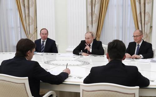 <p>Антон Вайно, Владимир Путин и Сергей Кириенко</p>  <p></p>