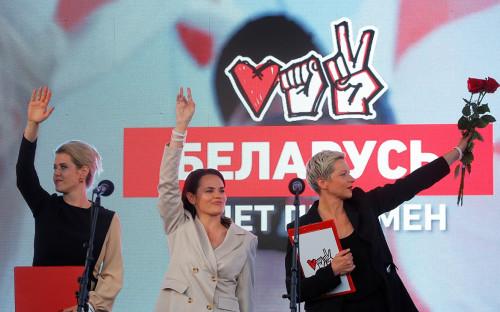 Вероника Цепкало, Светлана Тихановская иМария Колесникова