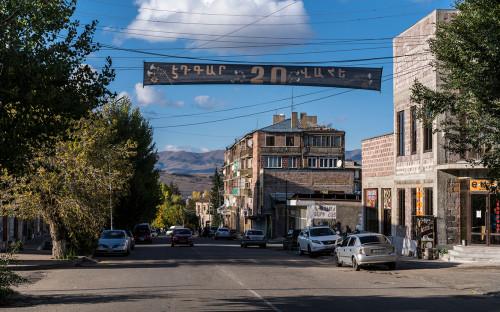 <p>Знамя увековечивающее смерть погибших в боях в Нагорном Карабахе в Раздане, Армения</p>
