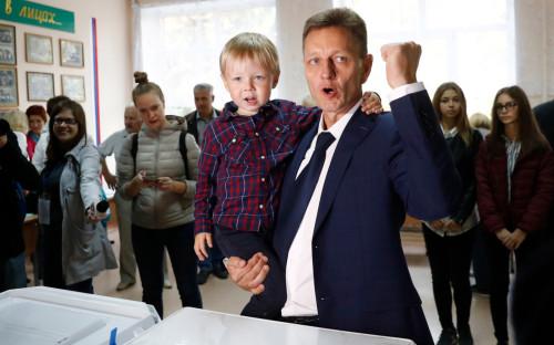 Владимир Сипягин с сыном