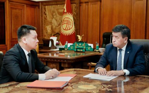 <p>Дамир Сагынбаев и Сооронбай Жээнбеков</p>
