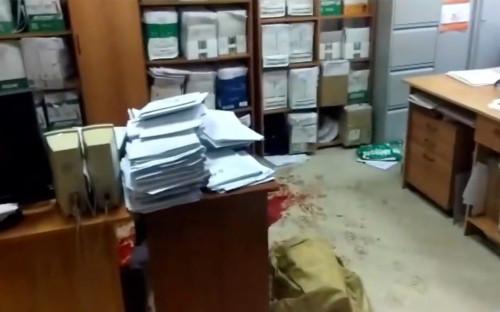 Кабинет в судебном участке мирового судьи Новокузнецка, где произошла стрельба