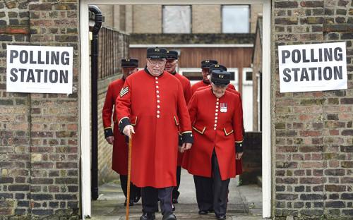 <p>Избирательный участок в&nbsp;лондонском районе Челси</p>
