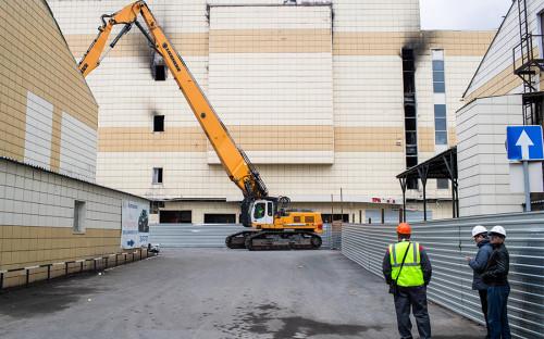 Торговый центр «Зимняя вишня» находился в перестроенном здании кондитерской фабрики, построенном в 1968 году